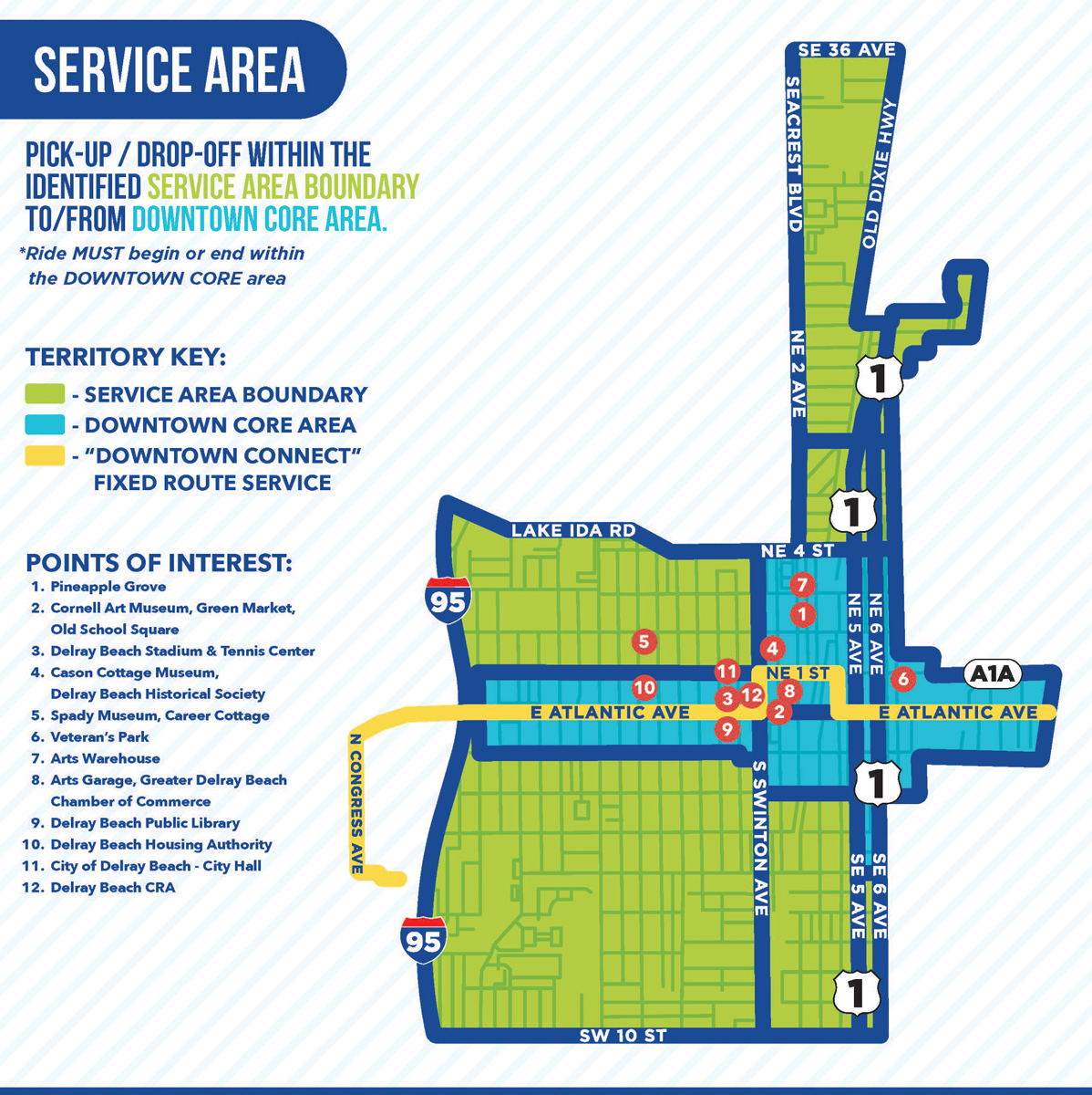 Delray Connect Service area