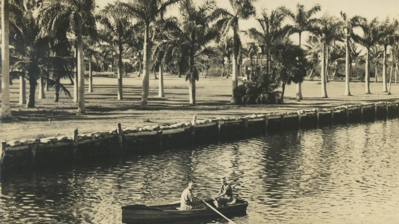 Delray Intercoastal 1940 People preferred to take the boat to West Palm Beach