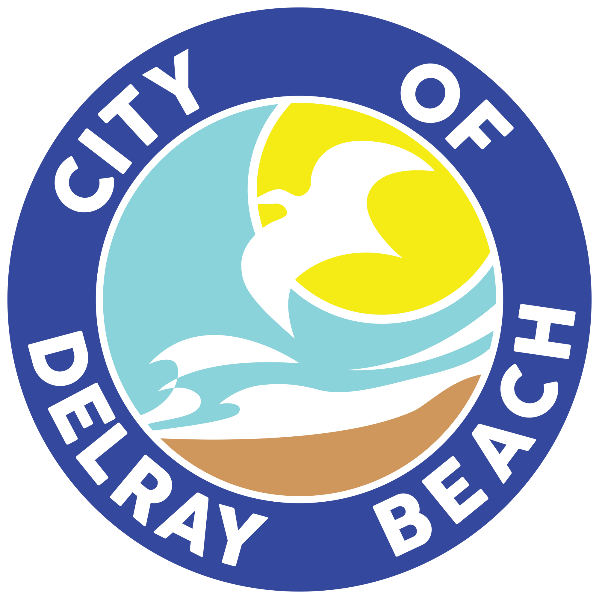 City of Delray Beach Logo 2018 white outline