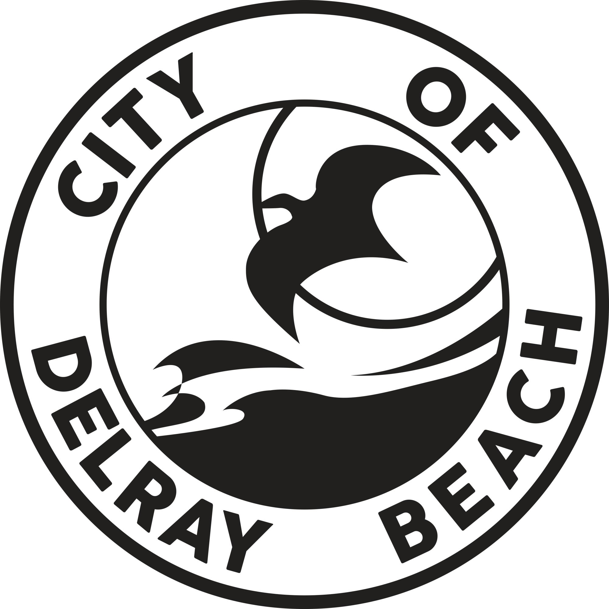 City of Delray Beach logo CMYK Primary Black