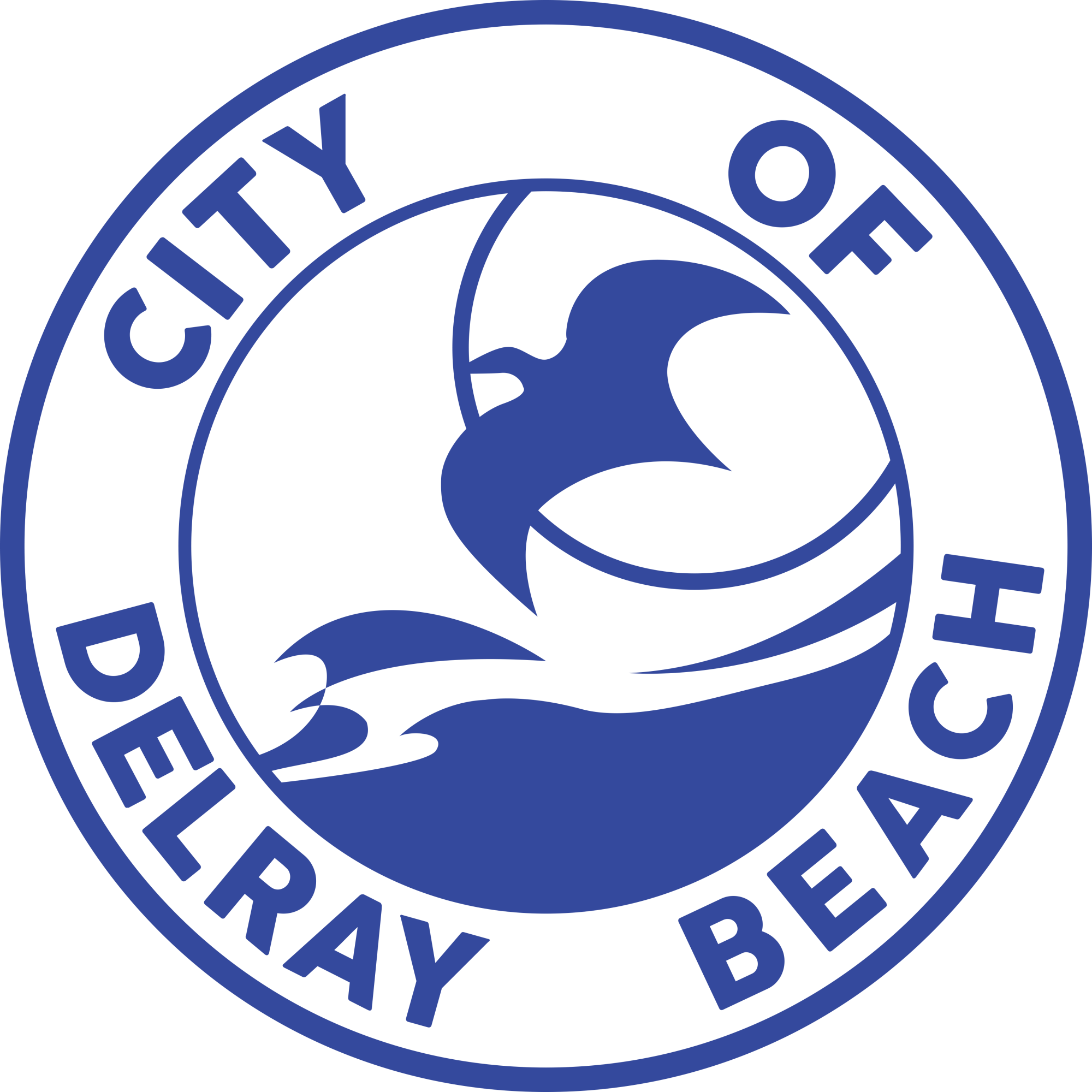 City of Delray Beach logo CMYK Primary Blue