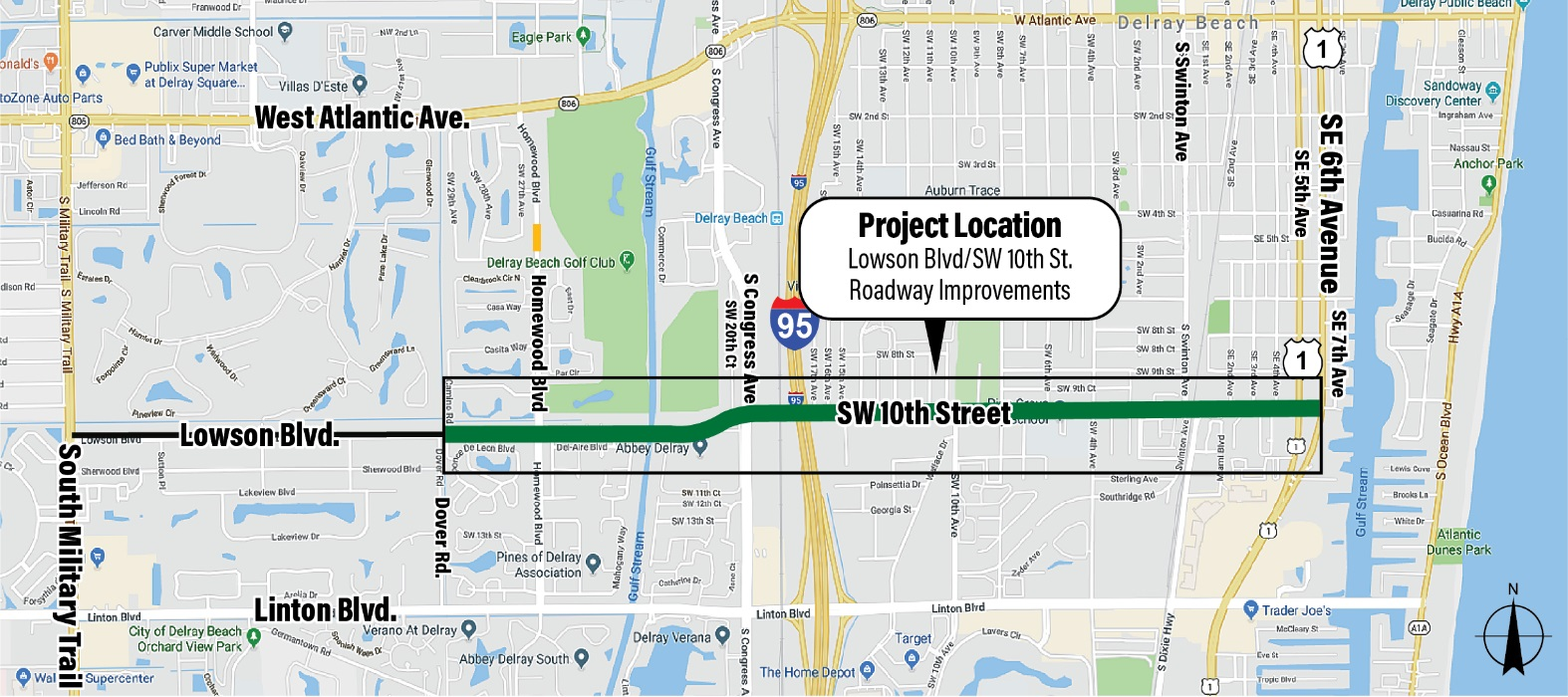 Lowson Blvd. / SW 10th St. Project Map